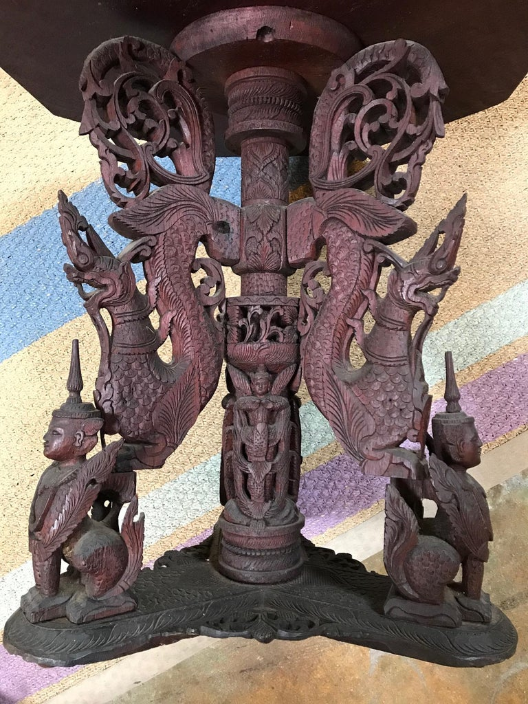 Indo-Chinese 19th Century Carved Table For Sale 1