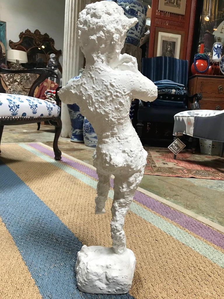 Midcentury Satyr Sculpture of Pan In Excellent Condition For Sale In Dallas, TX