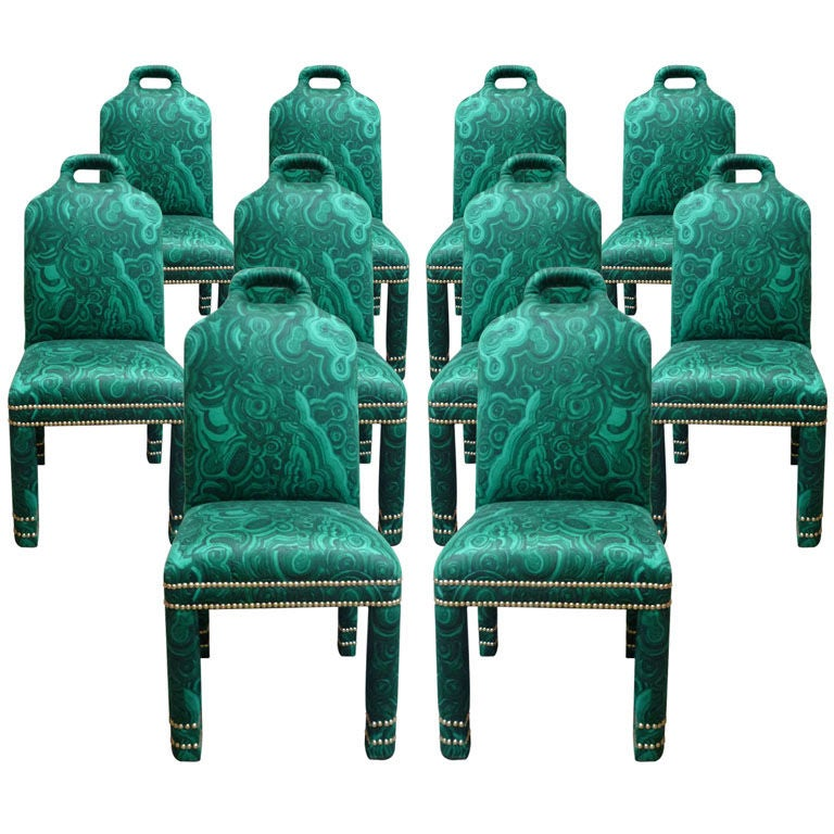 """""""Hutton"""" Malachite Chairs Originals"""
