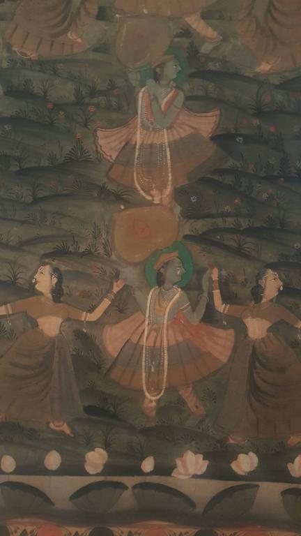 19th Century Pishwas Painted Wall-Hanging 3