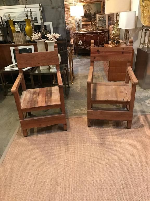 Pair of Vintage Colonial-Style Mexican Hall Chairs 5