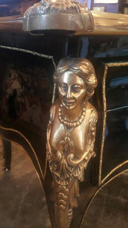 Bureau Plat Vintage Louis XV Style Desk In Good Condition For Sale In Dallas, TX