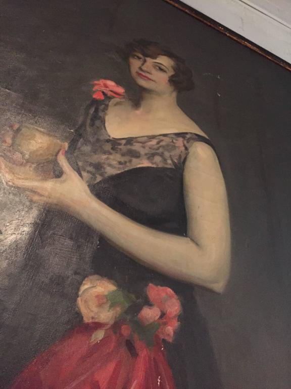 Portrait of Louise Cromwell of the Standard Oil family painted by Alfred Smith in 1928.
