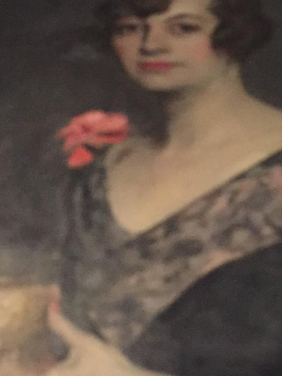 Portrait of Mrs. Douglas MacArthur 'Louise Cromwell' In Good Condition For Sale In Dallas, TX