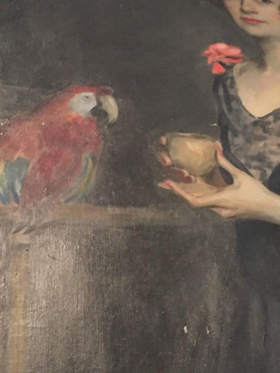 Early 20th Century Portrait of Mrs. Douglas MacArthur 'Louise Cromwell' For Sale
