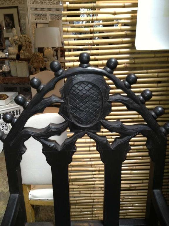 Hand-Carved Gothic Chair 3