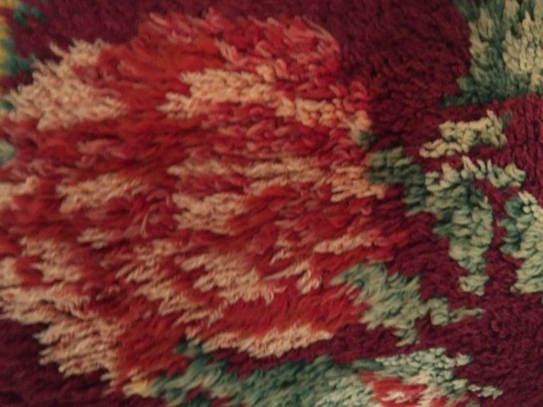 Moroccan textile pillow.