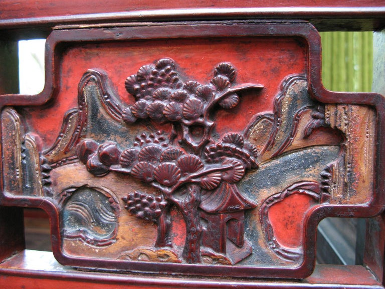 19th Century Chinese Lacquer Wedding Bed In Excellent Condition For Sale In Dallas, TX
