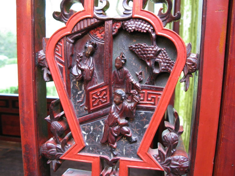 Gold Leaf 19th Century Chinese Lacquer Wedding Bed For Sale