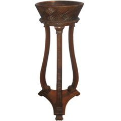 Mid-19th Century Hand-Carved Italian Plant Stand