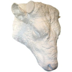19th Century Beaux Arts Plaster Bull Head