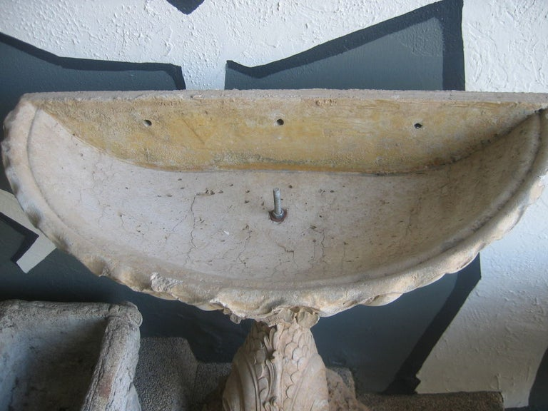 Pair of Concrete Fountain Basins For Sale 1