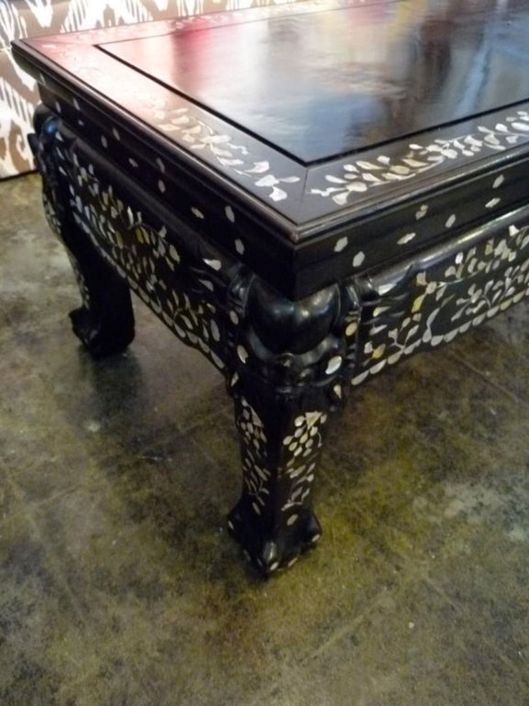 Mother-of-pearl Inlaid Coffee Table 2