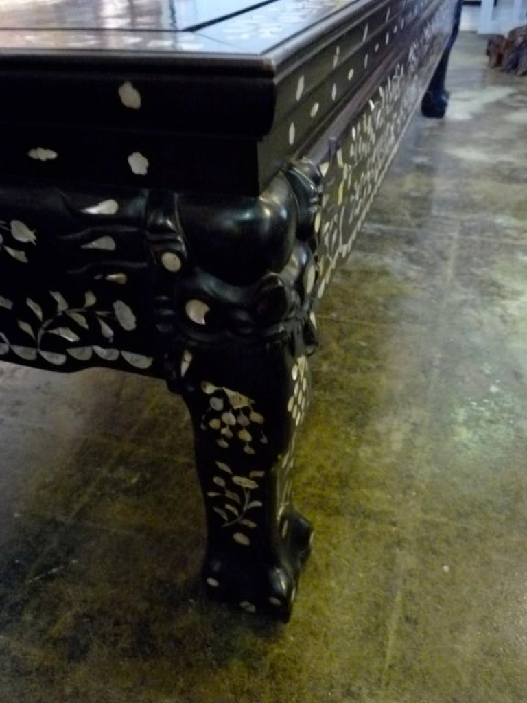 20th Century Mother-of-pearl Inlaid Coffee Table For Sale
