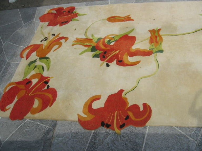 Custom Carpet by P. Heilhecker with Dragon Lily Design, 1973 2