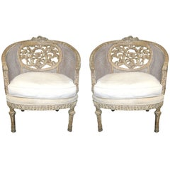 Pair of 19th Century Wood-Carved French Chairs