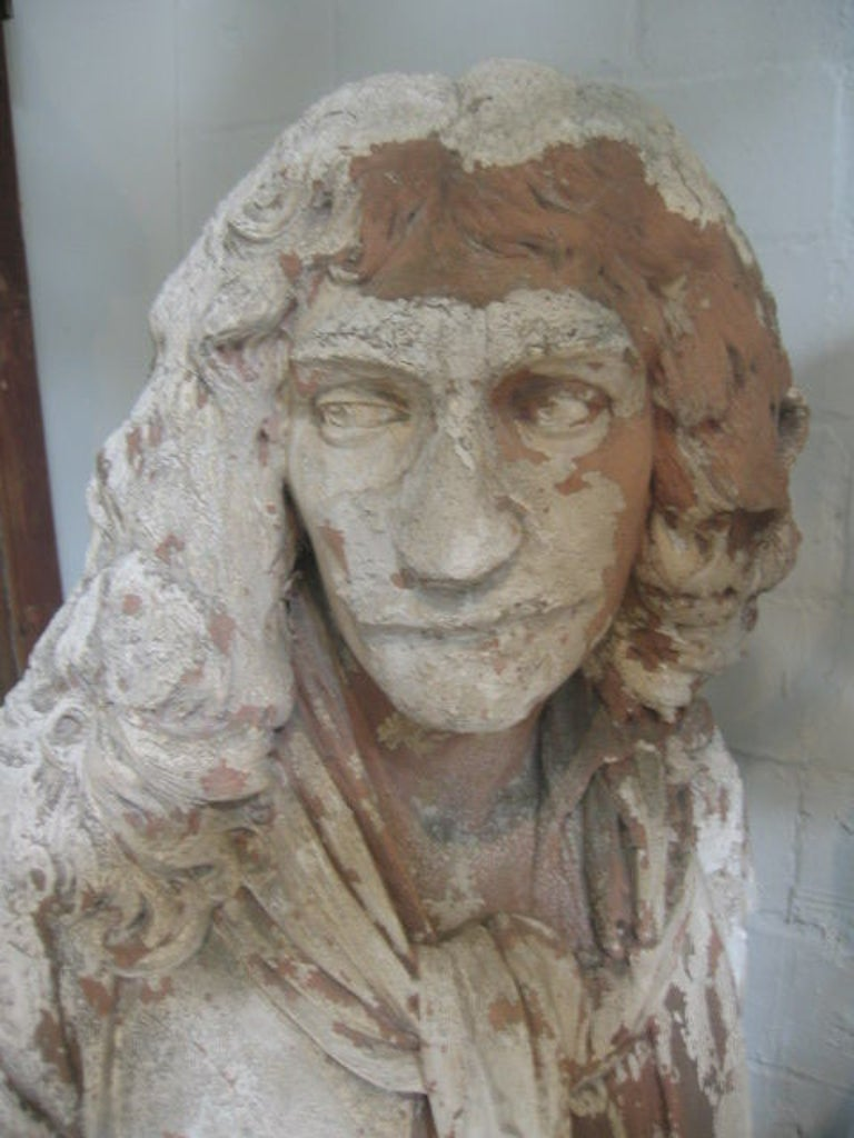 Antique English Plaster Bust of a Poet 3