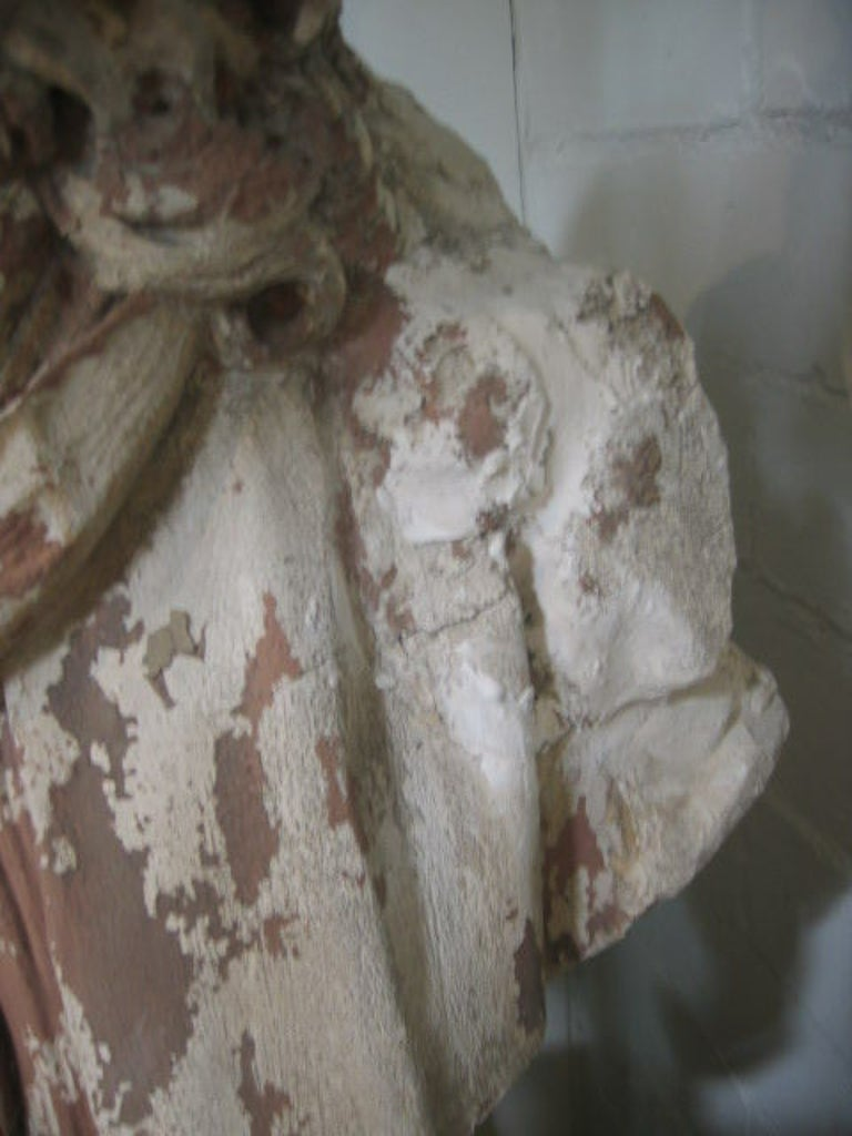 Antique English Plaster Bust of a Poet 4