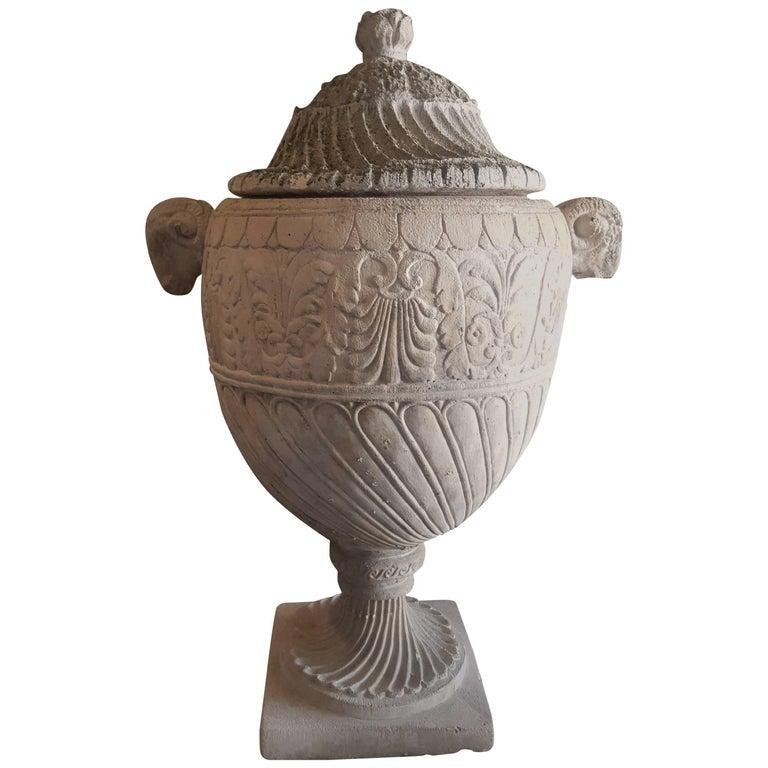 Antique French Terra Cotta Urn