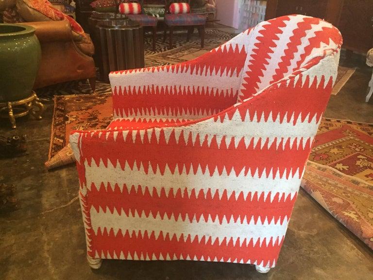 Custom Beaded Chair in Michelle Nussbaumer Dazzler fabric.