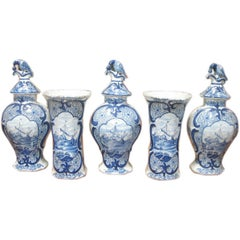 Delft Garniture Set, 18th Century