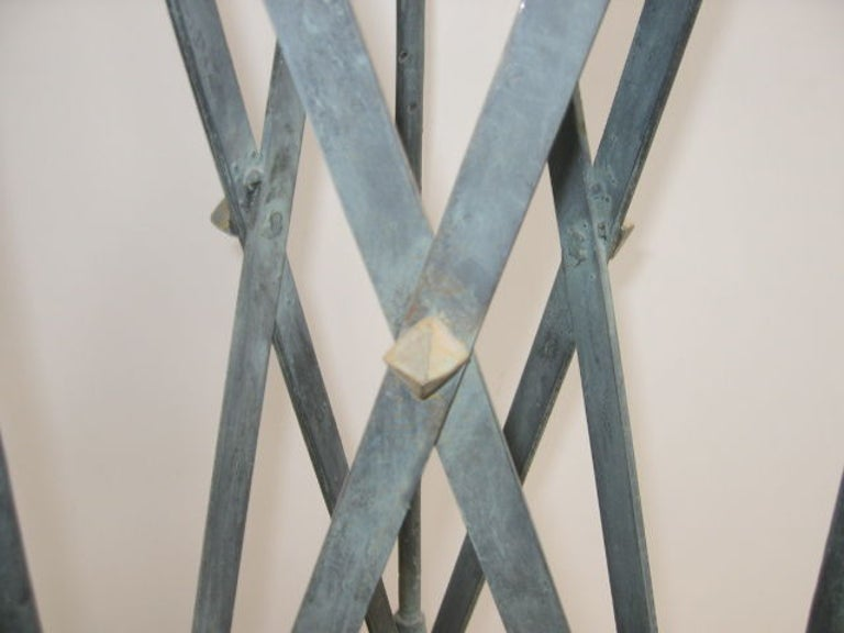 Plant Stands Pair of Verdi-Gris Iron Pompeiian Style For Sale 2