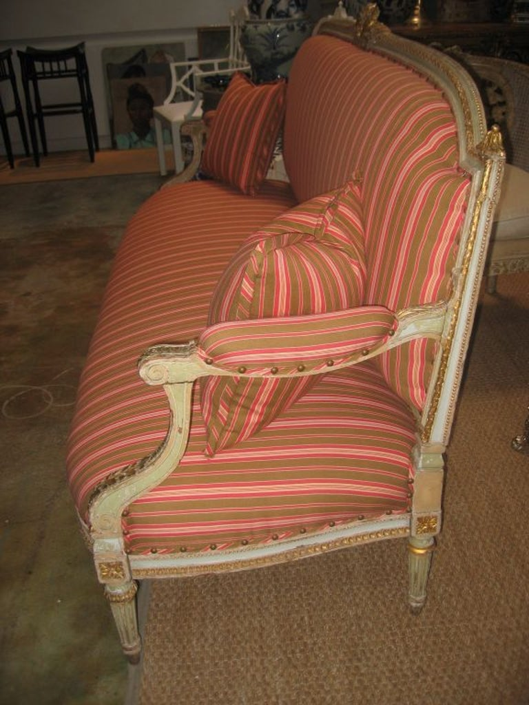 19th Century Louis XVI Style Settee For Sale
