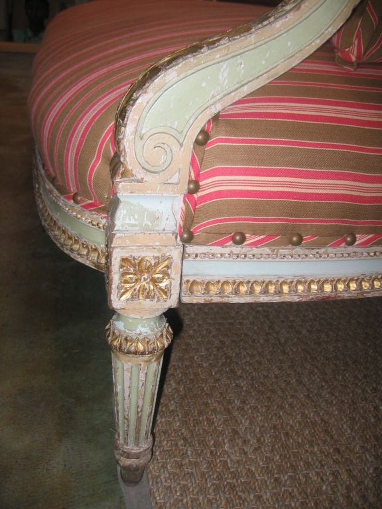 Louis XVI Style Settee For Sale 1