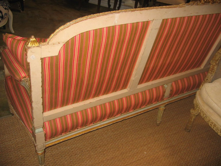 Louis XVI Style Settee For Sale 2