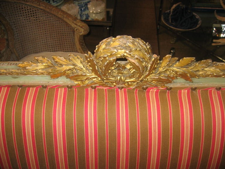 Louis XVI Style Settee For Sale 3