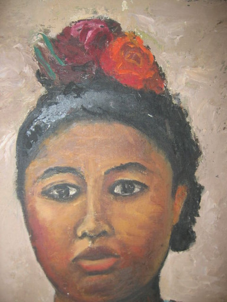 """Painting on Canvas, """"Portrait of a Woman"""" by Miller 5"""