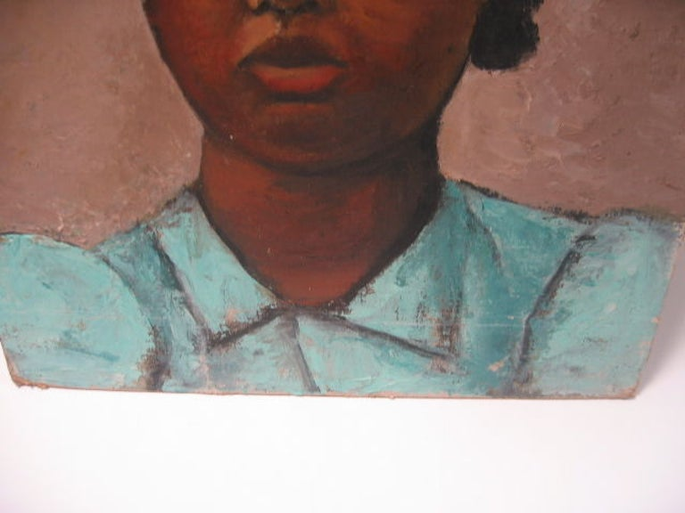 """Painting on Canvas, """"Portrait of a Woman"""" by Miller 6"""