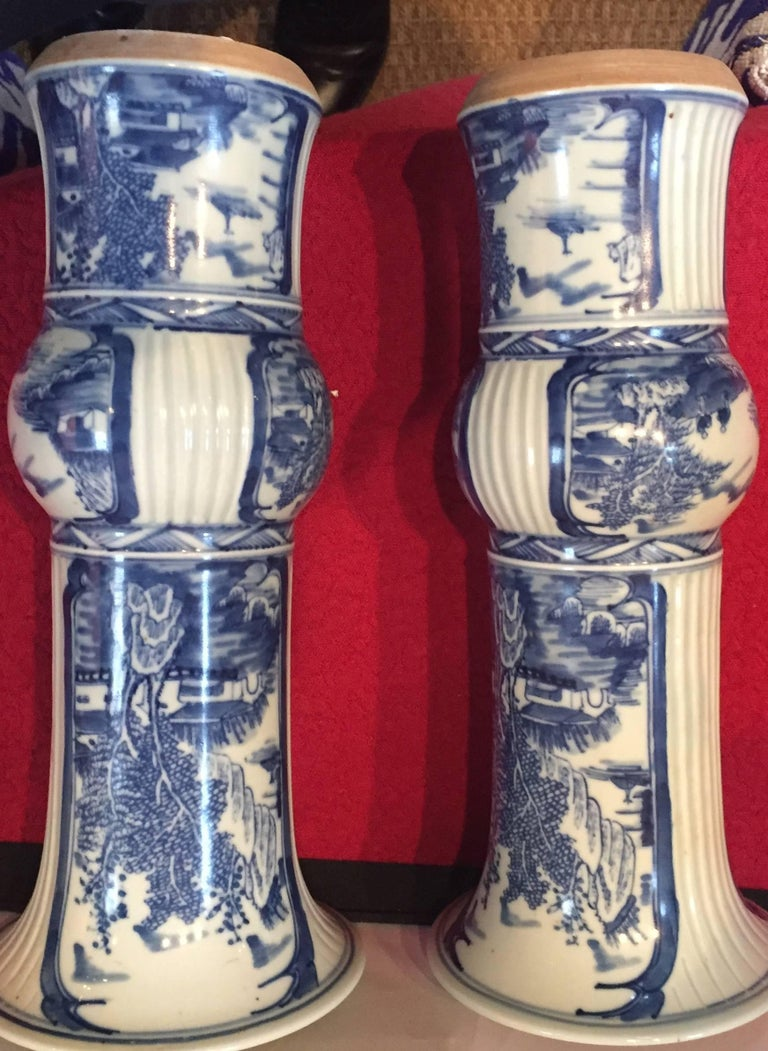 20th Century Blue and White Chinese Vases For Sale
