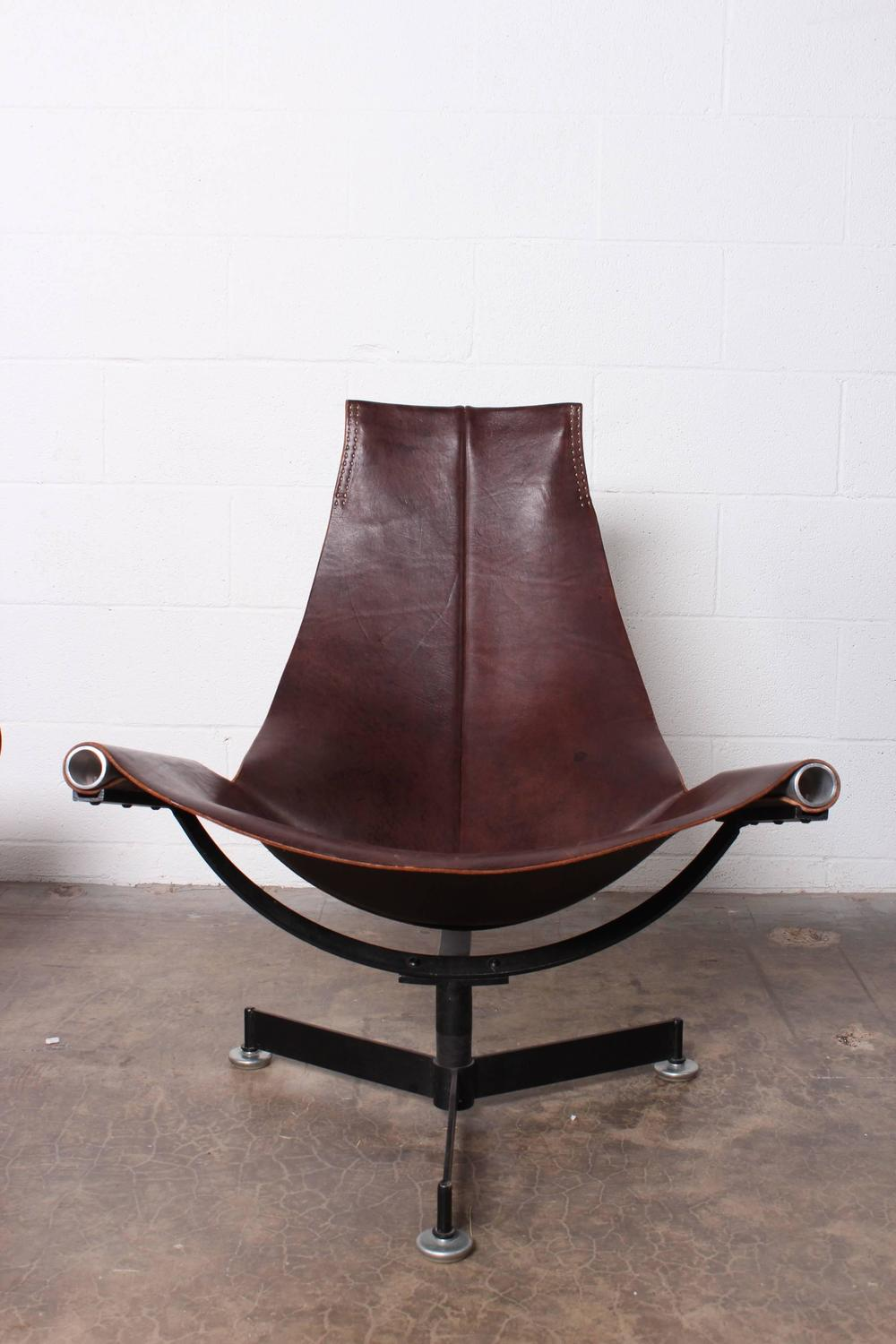 Leather Lounge Chair And Ottoman By Max Gottschalk At 1stdibs