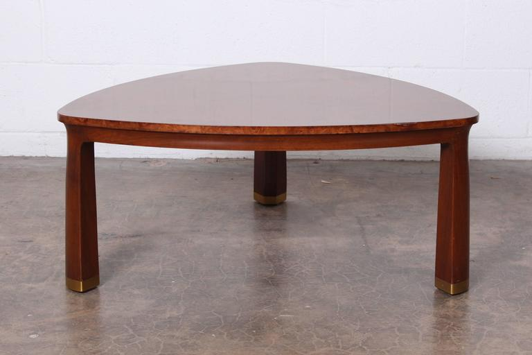 Triangle Coffee Table by Edward Wormley for Dunbar For Sale 2
