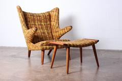 Papa Bear Chair and Ottoman by Hans Wegner