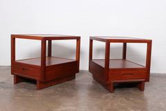 Pair of Night stands by Frank Lloyd Wright for Henredon
