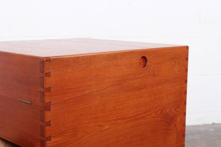 Scandinavian Modern Hans Wegner Teak Cube Bar For Sale