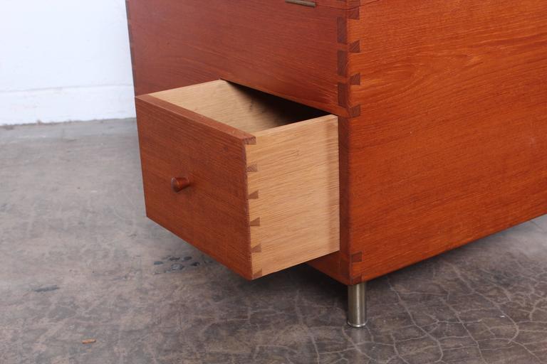 Hans Wegner Teak Cube Bar For Sale 2