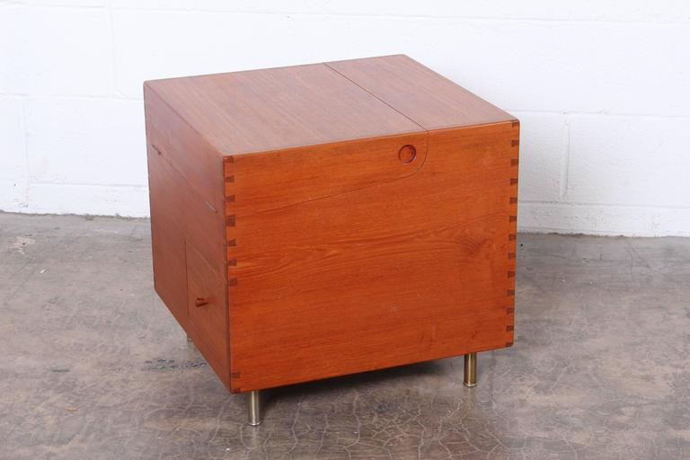 Hans Wegner Teak Cube Bar For Sale 1