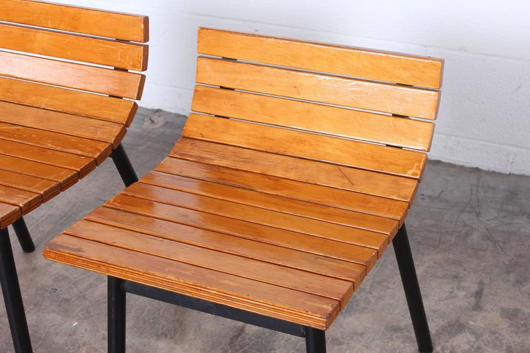 Pair of Slat Stools by Vista of California For Sale 5