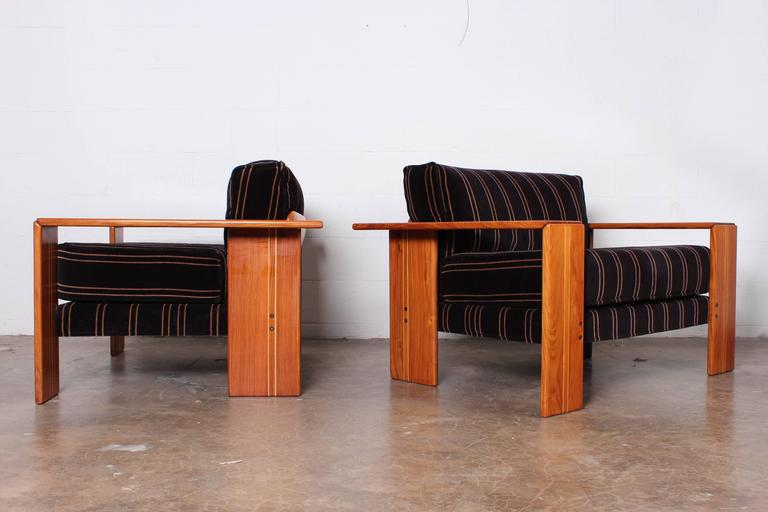 Pair of Lounge Chairs by Afra and Tobias Scarpa 2