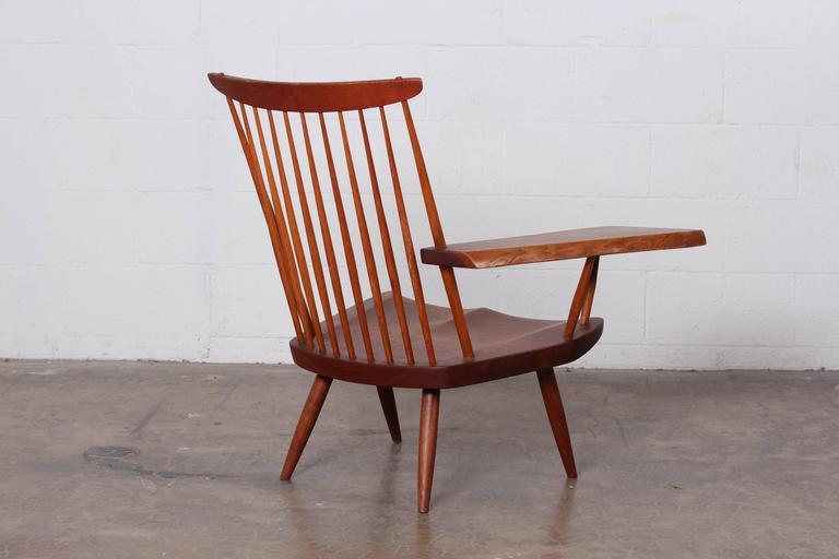 George nakashima single arm lounge chair 1968 for sale at for Single lounge chairs for sale