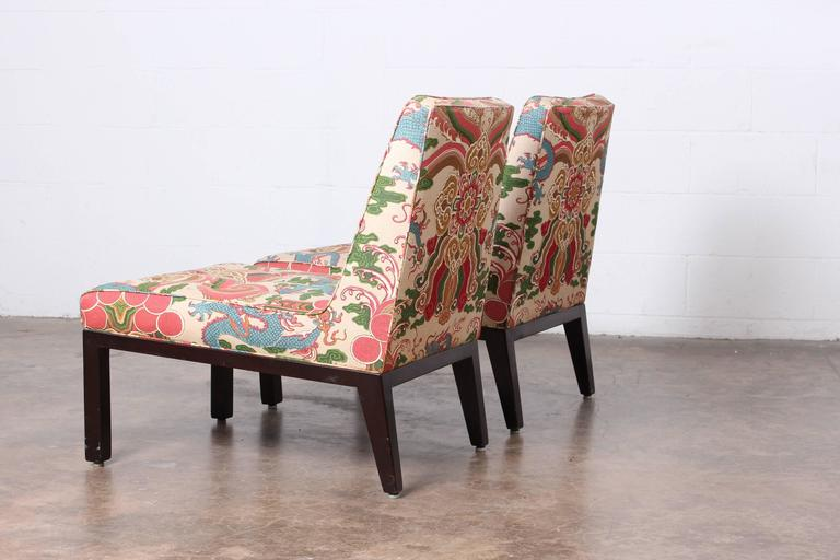 Pair of Slipper Chairs by Edward Wormley for Dunbar In Good Condition For Sale In Dallas, TX