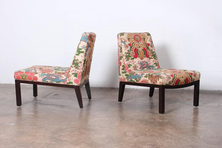Pair of Slipper Chairs by Edward Wormley for Dunbar For Sale 2