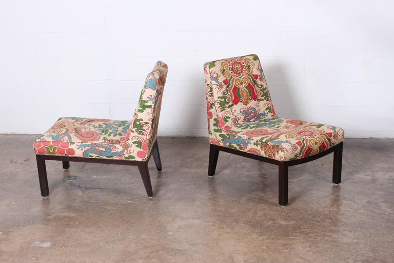 Pair of Slipper Chairs by Edward Wormley for Dunbar For Sale 4