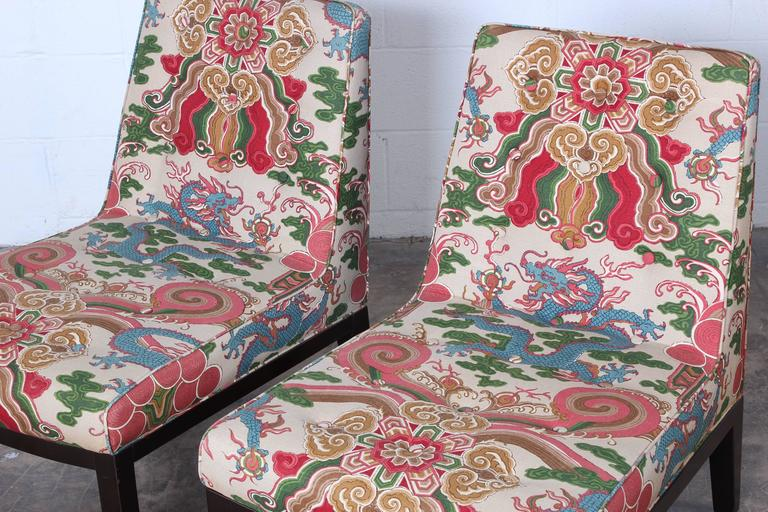 Pair of Slipper Chairs by Edward Wormley for Dunbar For Sale 6