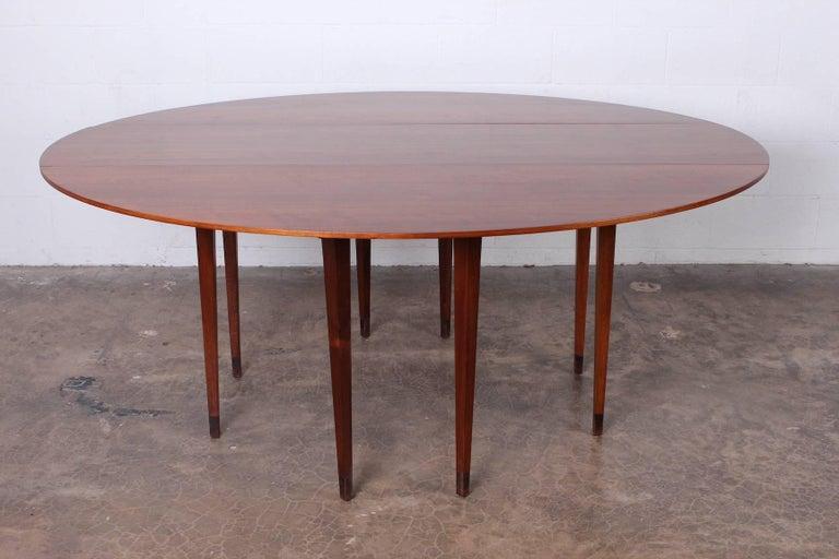 Walnut Drop-Leaf Console Table by Edward Wormley for Dunbar 4