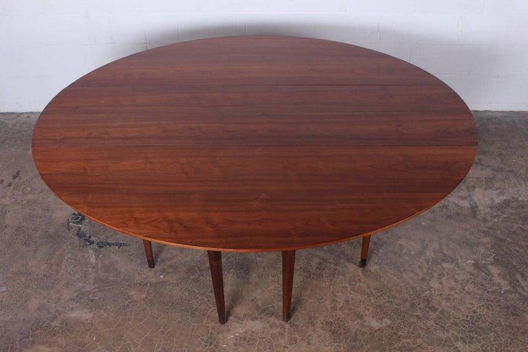 Walnut Drop-Leaf Console Table by Edward Wormley for Dunbar 5