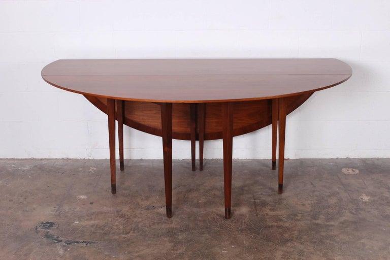 Walnut Drop-Leaf Console Table by Edward Wormley for Dunbar 6
